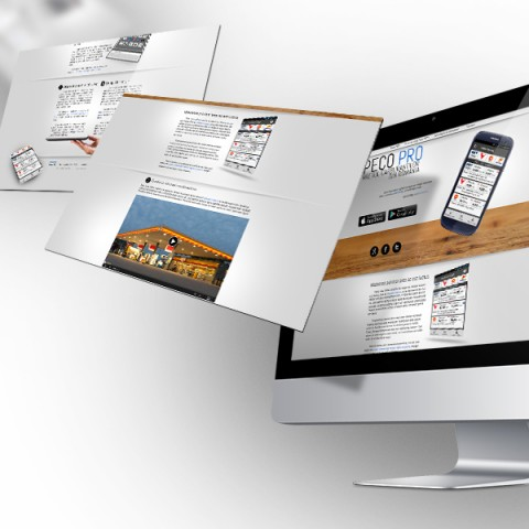 Peco Pro web layout design